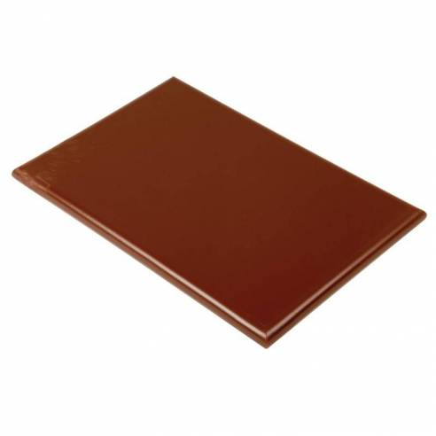 Tabla de cortar extra gruesa Hygiplas alta densidad marrón-Z093J035