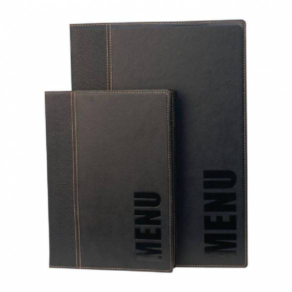 Portamenús contemporáneos Securit A4 negro-Z093H713