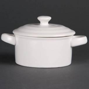Mini cacerolas redondas blancas Olympia 227ml (Pack de 4)-Z093DK817
