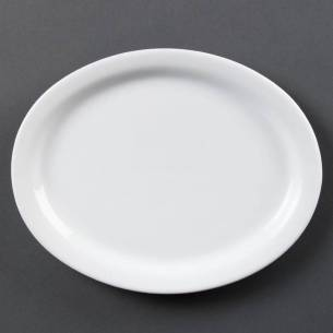 Fuentes ovaladas blancas 250mm Olympia-Z093CB477