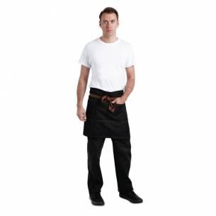 Delantal cintura Chef Works Memphis negro-Z093B587