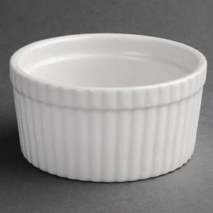 Cuencos soufflé blancos Olympia 128mm (Pack de 6)-Z093W446