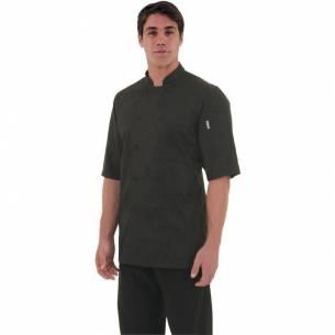 Chaqueta cocina Montreal Cool Vent negra Chef Works L-Z093B054-L
