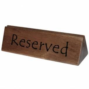 Señal Reservado/Soporte menú madera Olympia-Z093CL381