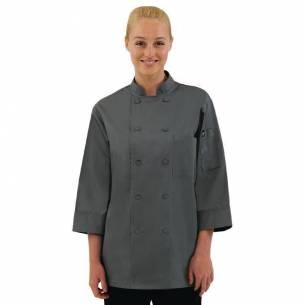 Chaqueta de cocina manga tres cuartos gris Chef Works-Z093A934-L