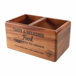 Caja organizadora T&G Woodware de madera con pizarra-Z093CL179