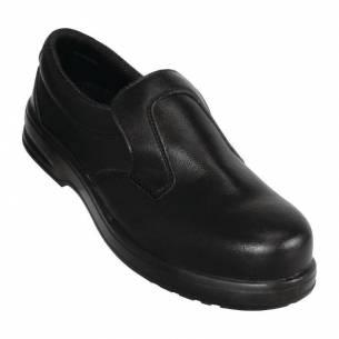 Zapatos de seguridad negros y sin cordones Lites 36-Z093A845-36