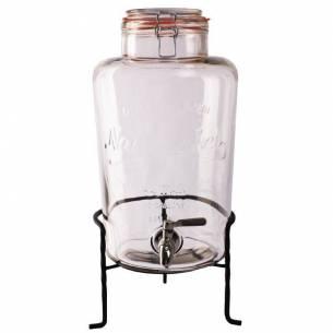 Dispensador de cristal Olympia con soporte 8,5Ltr