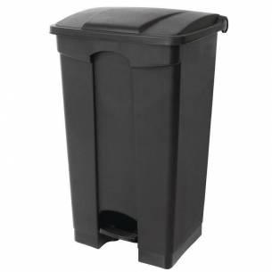 Cubo de basura a pedal Jantex negro 65Ltr-Z093CW723