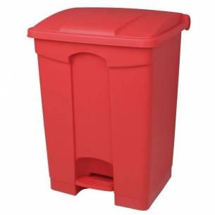 Cubo de basura a pedal Jantex rojo 65Ltr-Z093DC710