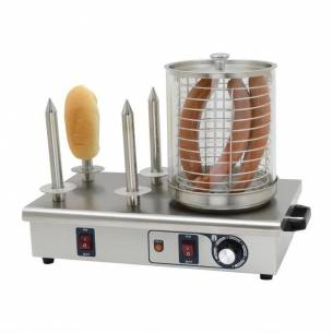 Máquina perritos calientes Buffalo 4 pinchos pan