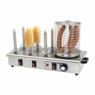 Máquina perritos calientes Buffalo 6 pinchos pan