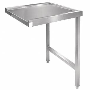 Mesa derecha Vogue lavavajillas cúpula 1100mm