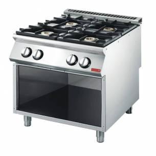 Cocina gas Gastro-M 4 quemadores 70/80 PCG