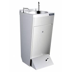 Lavamanos con pedestal un pulsador agua fría y caliente con dosificador de jabón