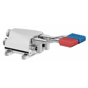 Pulsador a pedal doble agua caliente/fría