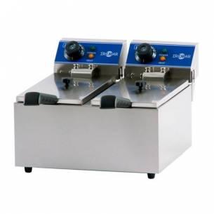 Freidora Iindustrial Eléctrica gastronorm de doble cuba FRY4+4