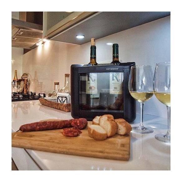 Enfriador de vino Cavanova OW002 para sobremesa (2 botellas)