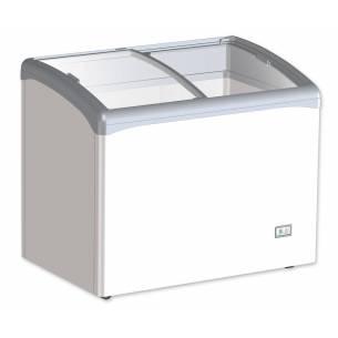 Congelador horizontal 180 litros tapa cristal curvo corredera VIC 220 AT