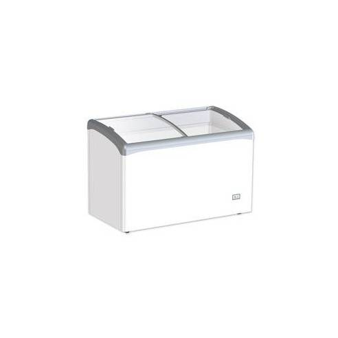 Congelador horizontal 250 litros tapa cristal curvo corredera VIC 330 AT
