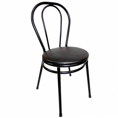 Silla bar Bistrot metálica asiento acolchado