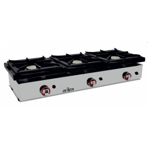 Cocina gas industrial 3 fuegos Arilex 120CG - 120x40 cm