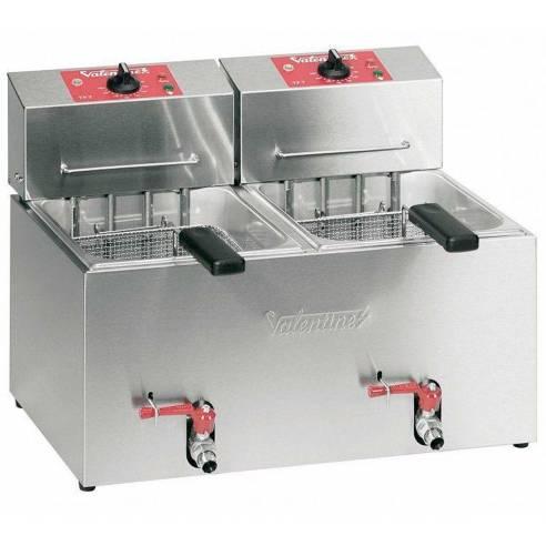 Freidora Industrial eléctrica Trifásica 5+5 litros  VALENTINE TF55T