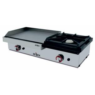 Plancha a gas Acero Rectificado con Fogón de 6 kw Arilex 100PGRF
