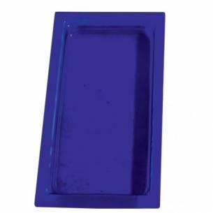 Cubeta gastronorm GN 1/3 40mm. Vidrio Azul