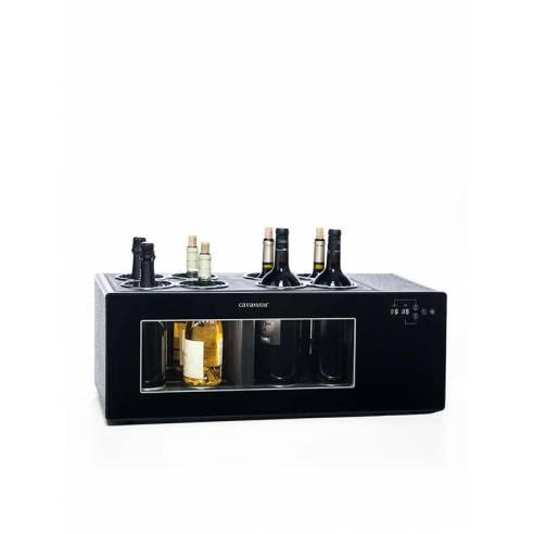 Enfriador de vino para barra Cavanova OW8CD 8 botellas grandes doble temperatura