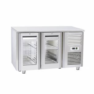 Bajomostrador conservación Puerta de Cristal Gastronorm 2 puertas QRG 2100 / 2200