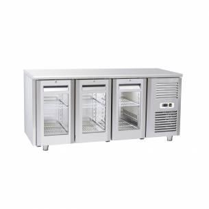 Bajomostrador conservación Puerta de Cristal Gastronorm 3 puertas QRG 3100 / 3200