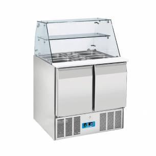 Bajomostrador refrigerado preparación de ensaladas de 2 puertas CRQ 90A