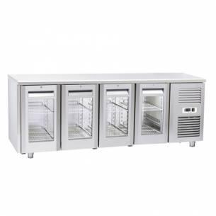 Bajomostrador conservación 4 Puertas de Cristal Gastronorm QRG 4100 / 4200