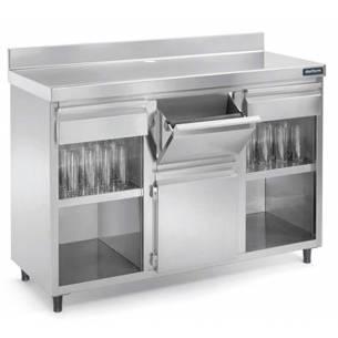 Mueble cafetero Acero inoxidable DISTFORM 2500X600 mm.-Z001F3020004