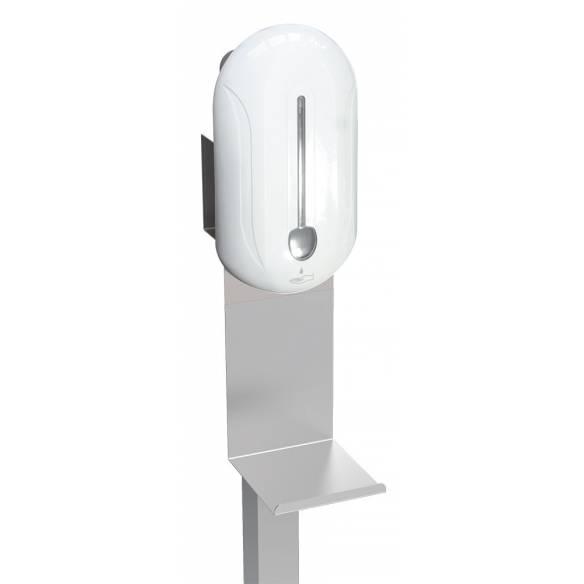 Columna con Acero Inoxidable con dispensador electrónico de gel hidroalcohólico