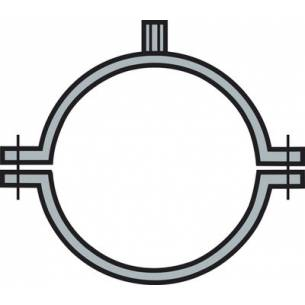 Abrazadera con tuerca Acero Galvanizado (Ø100-125-150-175-200-250-300-355-400 mm)