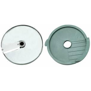 Discos de corte macedonia 10x10x10 mm. (Disco rejilla+disco rebanador) Ref. 28112 para Corta-Hortalizas y Combi Robot-Coupe