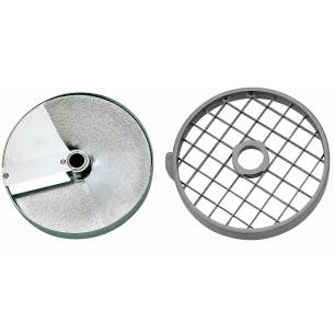 Discos de corte macedonia 25x25x25 mm. (Disco rejilla+disco rebanador) Ref. 28115 para Corta-Hortalizas y Combi Robot-Coupe
