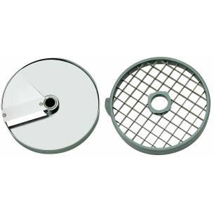 Discos de corte macedonia 14x14x5 mm. (Disco rejilla+disco rebanador) Ref. 28181 para Corta-Hortalizas y Combi Robot-Coupe