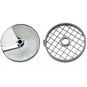 Discos de corte macedonia 50x70x25 mm. Ensaladas (Disco rejilla+disco rebanador) Ref. 28180 para Corta-Hortalizas y Combi Robot-