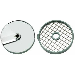 Discos de corte macedonia 5x5x5 mm. (Disco rejilla+disco rebanador) Ref. 28110 para Corta-Hortalizas y Combi Robot-Coupe-Z036...