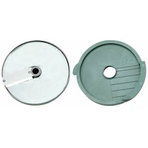 Discos de corte macedonia 8x8x8 mm. (Disco rejilla+disco rebanador) Ref. 27113 para Corta-Hortalizas y Combi Robot-Coupe-Z036...