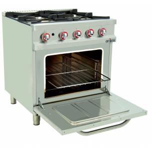 Cocina a gas con horno 4 fuegos Arilex EASY 80CG70H 33,5 Kw 800 x 750 x 900 mm-Z08580CG70H