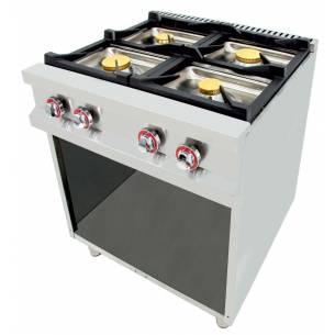Cocina a gas 4 fuegos Arilex EASY 80CG70 26 Kw 800 x 750 x 900 mm
