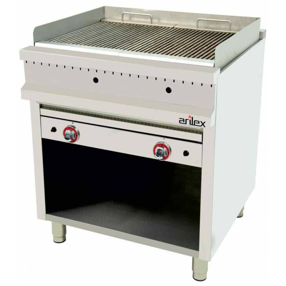 Barbacoa Piedra Volcánica a gas Arilex EASY 80BAR70 17 Kw 800 x 750 x 900 mm