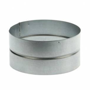 Manguito de unión hembra/hembra acero galvanizado (Ø100-125-150-175-200-250-300-355-400 mm)-Z025CA017