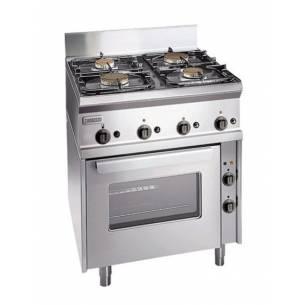 Cocina profesional a gas 4 quemadores con horno eléctrico ZANUSSI SCFGE700-Z063285770