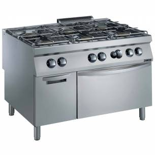 Cocina a gas 6 quemadores con horno 52,5 Kw ZANUSSI-Z063392013