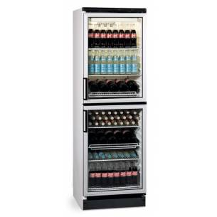 Armario expositor refrigerado doble puerta EUROFRED FKG 370/2P